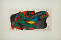 Prints, JOAN MIRÓ (Spanish, 1893-1983). L'Ornithologue. Color lithograph. 7-1/2 x 15-1/2 inches (19.1 x 39.4 cm) (sight). Signed...