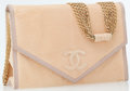 Luxury Accessories:Bags, Chanel Peach Lizard Flap Bag with Gold Multi-Strand Chain Strap....