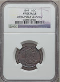 1804 1/2 C Plain 4, No Stems -- Improperly Cleaned -- NGC Details. VF. NGC Census: (28/838). PCGS Population (36/701). M...