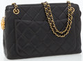 Luxury Accessories:Bags, Chanel Black Quilted Lambskin Leather Shoulder Bag. ...