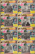 "Movie Posters:Crime, Ocean's 11 (Warner Brothers, 1960). Mexican Lobby Card Set of 8(12.5"" X 16""). Crime.. ... (Total: 8 Items)"