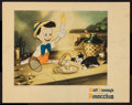 "Movie Posters:Animation, Pinocchio (RKO, 1940). Lobby Card (11"" X 14""). Animation.. ..."