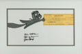 Animation Art:Production Cel, Rocky and his Friends Rocket J. Squirrel Production Cel andSigned Check (Jay Ward, 1959-82)....