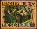 """Movie Posters:Swashbuckler, The Sea Hawk (Warner Brothers, 1940). Linen Lobby Card (11"""" X 14""""). Swashbuckler.. ..."""