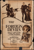 "Movie Posters:Action, Foreign Devils (MGM, 1927). Rotogravure One Sheet (28"" X 42"").Action.. ..."