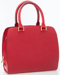 Luxury Accessories:Bags, Louis Vuitton Red Epi Leather Pont Neuf Top Handle Bag. ...