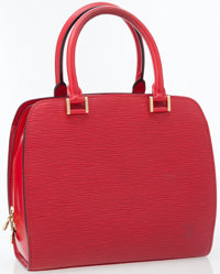 Louis Vuitton Red Epi Leather Pont Neuf Top Handle Bag