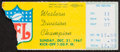 Football Collectibles:Tickets, 1967 Ice Bowl - NFL Championship Game Packers vs. Cowboys Ticket Stub....