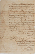 Miscellaneous:Ephemera, [Slavery]. Copy of A Promissory for the Sale of a Slave-Filing....