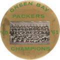 Football Collectibles:Others, 1961 Green Bay Packers 4 Inch Pinback Button - Extremely Rare. ...