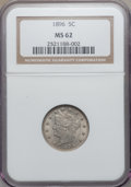 Liberty Nickels: , 1896 5C MS62 NGC. NGC Census: (39/219). PCGS Population (44/282).Mintage: 8,842,920. Numismedia Wsl. Price for problem fre...
