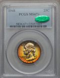 Washington Quarters, 1948 25C MS67+ PCGS. CAC....