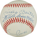 Autographs:Baseballs, Circa 1990 500 Home Run Club Signed Baseball (5 Signatures)....