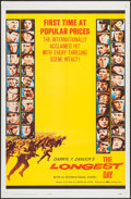 "Movie Posters:War, The Longest Day (20th Century Fox, 1962). One Sheet (27"" X 41"").Popular Prices Style. War.. ..."