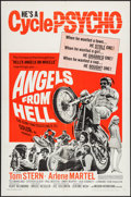 "Movie Posters:Exploitation, Angels from Hell (American International, 1968). One Sheet (27"" X41""), and Lobby Card Set of 8 (11"" X 14""). Exploitation.. ...(Total: 9 Items)"