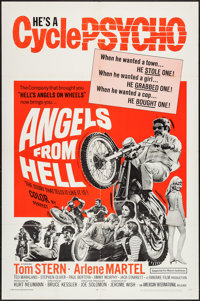 "Angels from Hell (American International, 1968). One Sheet (27"" X 41""), and Lobby Card Set of 8 (11"" X 14..."