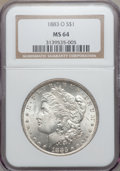 Morgan Dollars: , 1883-O $1 MS64 NGC. NGC Census: (43473/10703). PCGS Population(35723/8019). Mintage: 8,725,000. Numismedia Wsl. Price for ...