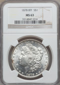 Morgan Dollars: , 1878 8TF $1 MS63 NGC. NGC Census: (2734/2352). PCGS Population(3846/2954). Mintage: 699,300. Numismedia Wsl. Price for pro...