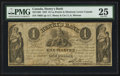 Canadian Currency: , La Prairie, LC- Henry's Bank at Montreal Branch $1 June 27, 1837Ch. # 357-12-02. ...
