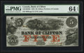 Canadian Currency: , Clifton, PC- The Bank of Clifton $5 Oct. 1, 1859 Ch. #125-10-04-06. ...