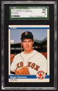 Baseball Cards:Singles (1970-Now), 1984 Fleer Update Roger Clemens #U27 SGC 96 Mint 9....