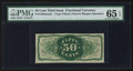 Fractional Currency:Third Issue, Fr. 1339SP 50¢ Narrow Margin Back PMG Gem Uncirculated 65 EPQ.. ...