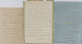Autographs:Non-American, Group of Three Alexander Dumas Letters Signed... (Total: 3 Items)