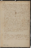 Autographs:Non-American, Maria Theresia Document Signed....