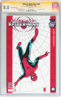 Ultimate Spider-Man #100 Hero Initiative Mike Allred Edition (Marvel, 2006) CGC VF 8.0 White pages