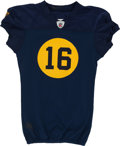 Football Collectibles:Uniforms, 2010 Brett Swain Game Worn, Unwashed Green Bay Packers Throwback Jersey and Pants....