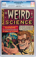 Golden Age (1938-1955):Science Fiction, Weird Science #12 (#1) (EC, 1950) CGC FN- 5.5 Slightly brittlepages....
