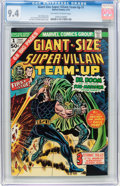 Bronze Age (1970-1979):Superhero, Giant-Size Super-Villain Team-Up #1 (Marvel, 1975) CGC NM 9.4 Off-white to white pages....