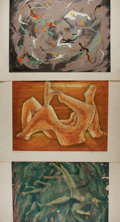 Books:Prints & Leaves, Ralph Peplow. Group of Three Original Signed and Numbered ColorPrints. Various sizes. Toning and scattered soil. Some wear ...