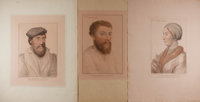 Hans Holbein. F. Bartolozzi [engraver]. Group of Three Hand-Colored, Engraved Portraits. [ca. 1790's]. Measure approx