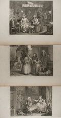 Art:Illustration Art - Mainstream, [Engravings]. William Hogarth. Group of Six. A Harlot'sProgress. Presumed 19th century. 25 X 18.75 inches. Engraved...