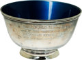 Baseball Collectibles:Others, 1963 World Series Commemorative Silver Bowl from Tony Kubek....