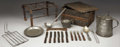Antiques:Decorative Americana, Camp Cook Kit - Indian War period complete kitchen; made longfrontier campaigns; all inclusive - pots, cooking utensils, ro...(Total: 1 Item)