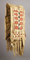 American Indian Art, AN APACHE RAWHIDE DOUBLE SADDLE BAG. . c. 1880. ...