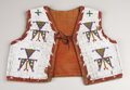 American Indian Art:Beadwork, A SIOUX BOY'S BEADED HIDE VEST. c. 1890. ...