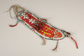 American Indian Art:Beadwork, A SIOUX QUILLED AND BEADED HIDE KNIFE SHEATH. c. 1885. ...