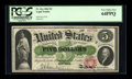 Large Size:Legal Tender Notes, Fr. 61a $5 1862 Legal Tender PCGS Very Choice New 64PPQ....