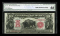 Large Size:Legal Tender Notes, Fr. 119 $10 1901 Legal Tender CGA Gem Uncirculated 68....