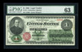 Large Size:Legal Tender Notes, Fr. 16 $1 1862 Legal Tender PMG Choice Uncirculated 63....