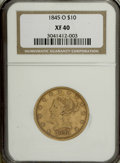 Liberty Eagles: , 1845-O $10 XF40 NGC. NGC Census: (21/150). PCGS Population (29/65).Mintage: 47,500. Numismedia Wsl. Price for NGC/PCGS coi...