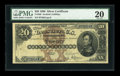 Large Size:Silver Certificates, Fr. 309 $20 1880 Silver Certificate PMG Very Fine 20....