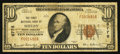 National Bank Notes:North Carolina, Shelby, NC - $10 1929 Ty. 1 The First NB Ch. # 6776. ...