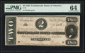 Confederate Notes:1864 Issues, T70 $2 1864 PF-5 Cr. 467.. ...