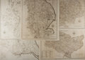 Books:Literature Pre-1900, [Maps]. Group of Five Copper Engraved Maps by John Cary, ca. 1806. Cary was known for his accuracy and detail in English maps,...