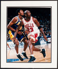 Basketball Collectibles:Photos, Michael Jordan and Kobe Bryant Multi Signed Upper DeckAuthenticated Oversized Photograph - Numbered out of 200....