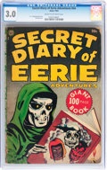 Golden Age (1938-1955):Horror, Secret Diary of Eerie Adventures #nn (Avon, 1953) CGC GD/VG 3.0Cream to off-white pages....